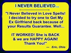 Get Back yogether love spells